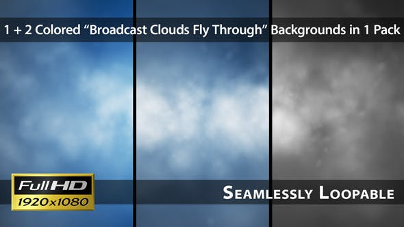 Broadcast Clouds Fly Through Pack 01 - Download Videohive 4125626