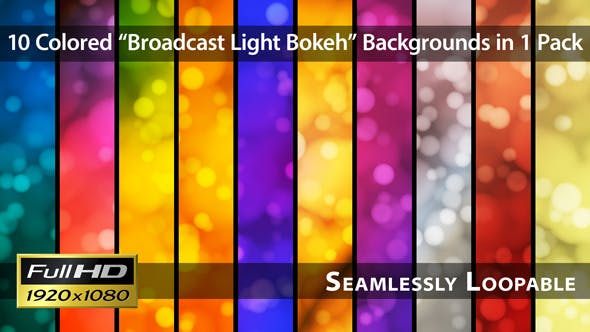Broadcast Light Bokeh Pack 06 - Videohive Download 4114679