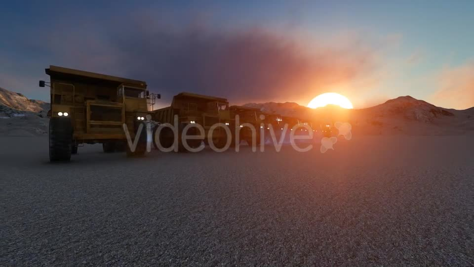 Building Construction Truck Sunset Videohive 19724257 Motion Graphics Image 1