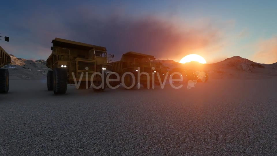 Building Construction Truck Sunset Videohive 19724257 Motion Graphics Image 2
