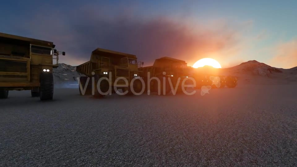 Building Construction Truck Sunset Videohive 19724257 Motion Graphics Image 3