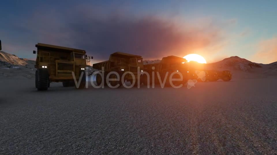 Building Construction Truck Sunset Videohive 19724257 Motion Graphics Image 4