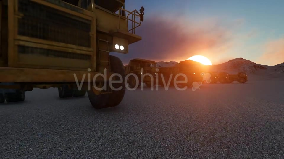 Building Construction Truck Sunset Videohive 19724257 Motion Graphics Image 5