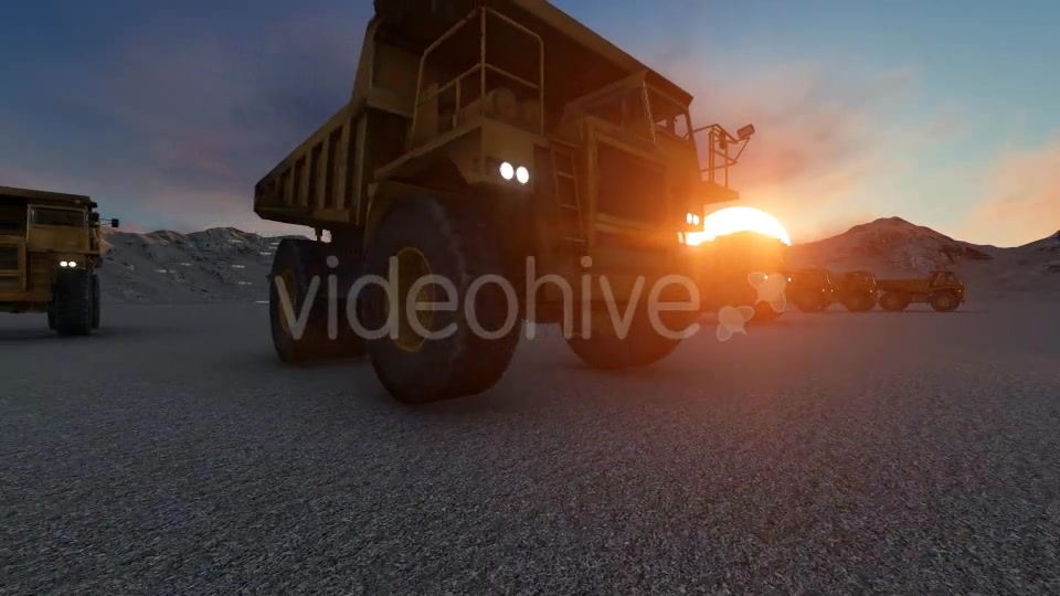 Building Construction Truck Sunset Videohive 19724257 Motion Graphics Image 6