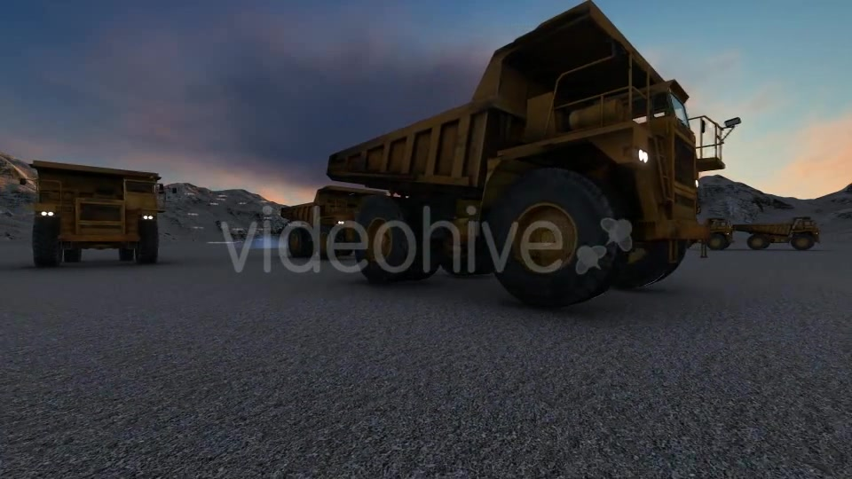 Building Construction Truck Sunset Videohive 19724257 Motion Graphics Image 7