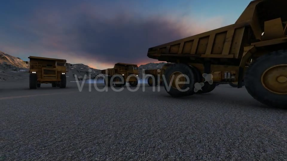 Building Construction Truck Sunset Videohive 19724257 Motion Graphics Image 8