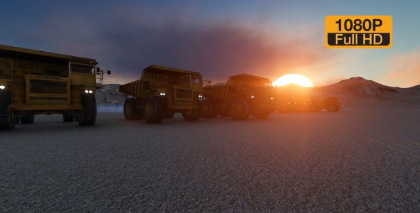 Building Construction Truck Sunset - Download 19724257 Videohive