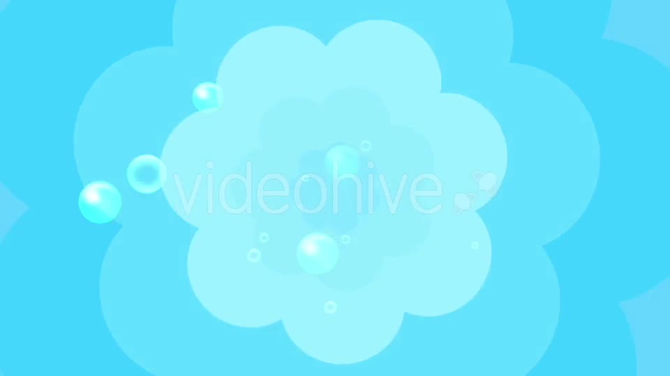 Cartoon Water Bubbles Background Videohive 19829865 Motion Graphics Image 1