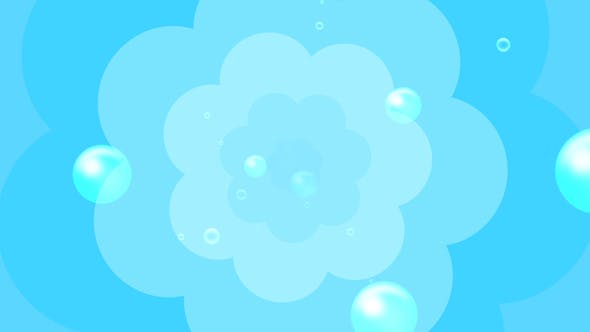 Cartoon Water Bubbles Background - Videohive Download 19829865
