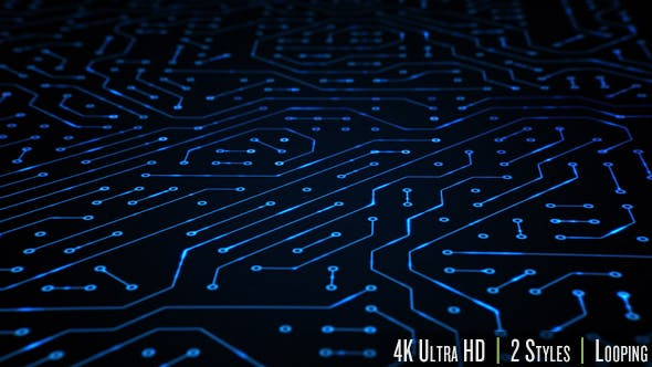 Circuit Board Closeup Loop 4K - Videohive 19768258 Download
