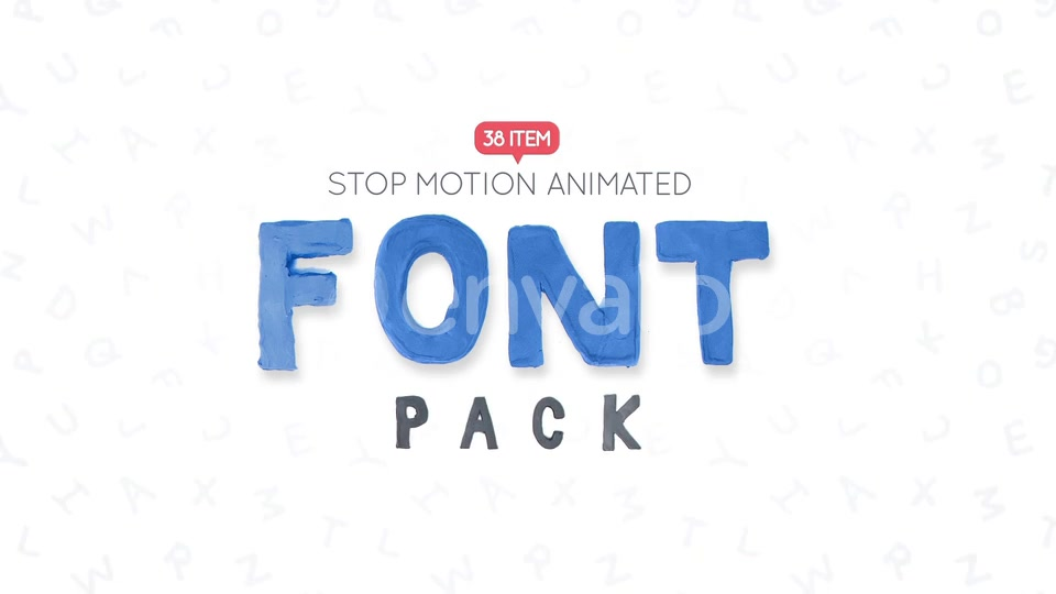 Download Clay Letters Font Pack Download Direct 22607473 Videohive ...