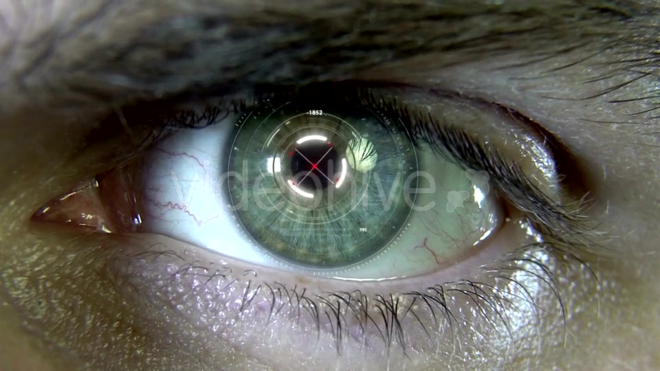Eyes with Hologram Animation Videohive 19758447 Motion Graphics Image 8