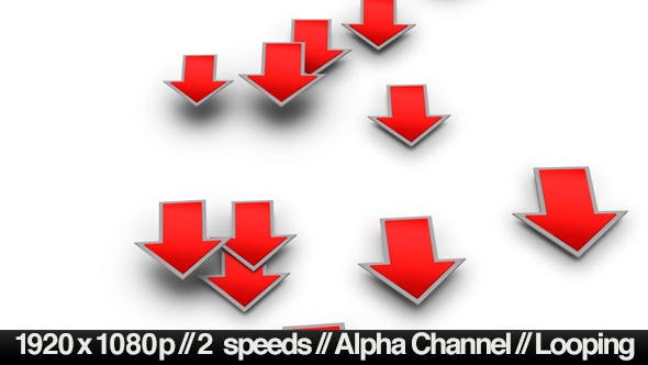 Into the Red Investment Losses Arrows With Alpha - Download Videohive 4093312