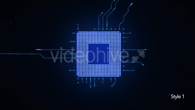 Motherboard CPU Circuits Videohive 19772992 Motion Graphics Image 3
