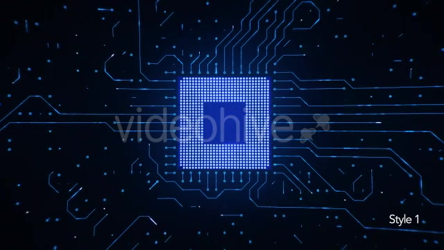 Motherboard CPU Circuits Videohive 19772992 Motion Graphics Image 4