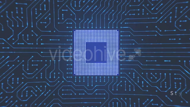 Motherboard CPU Circuits Videohive 19772992 Motion Graphics Image 7