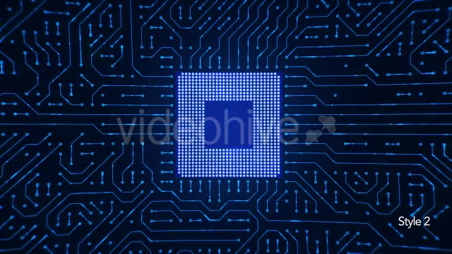 Motherboard CPU Circuits Videohive 19772992 Motion Graphics Image 8