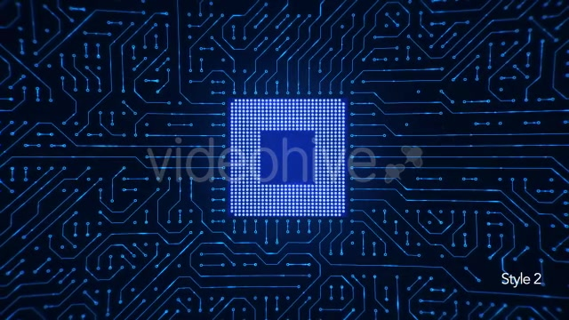 Motherboard CPU Circuits Videohive 19772992 Motion Graphics Image 9