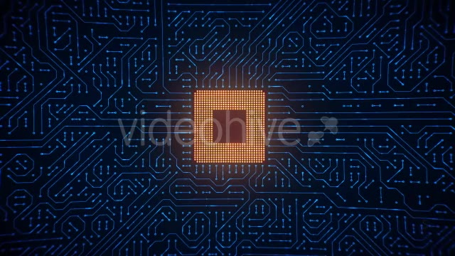 Motherboard CPU Circuits Loop 4k Videohive 19773307 Motion Graphics Image 2