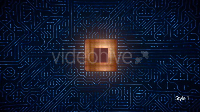 Motherboard CPU Circuits Loop 4k Videohive 19773307 Motion Graphics Image 3