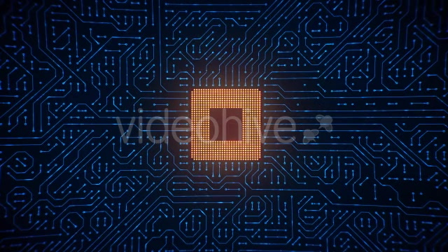 Motherboard CPU Circuits Loop 4k Videohive 19773307 Motion Graphics Image 6