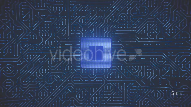 Motherboard CPU Circuits Loop 4k Videohive 19773307 Motion Graphics Image 7
