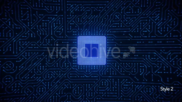 Motherboard CPU Circuits Loop 4k Videohive 19773307 Motion Graphics Image 8