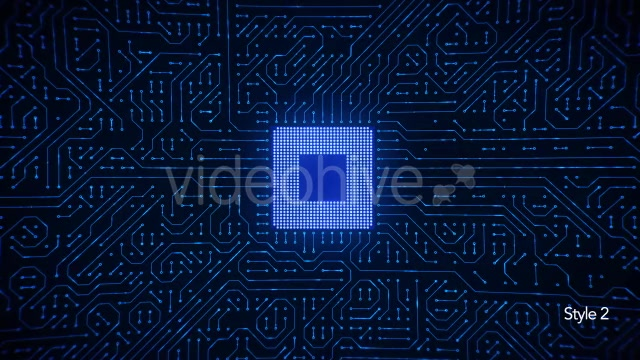 Motherboard CPU Circuits Loop 4k Videohive 19773307 Motion Graphics Image 9