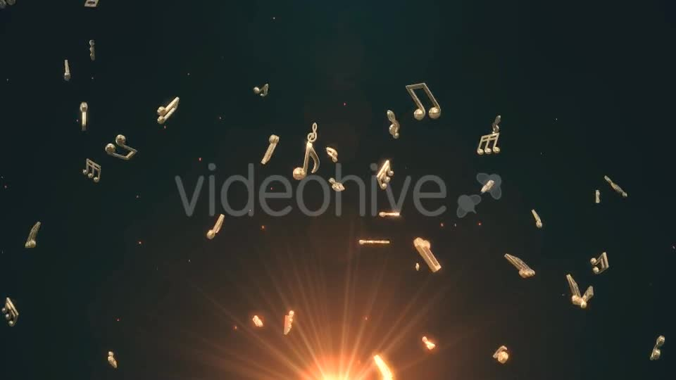 Musical Notes Flying Videohive 19754156 Motion Graphics Image 1