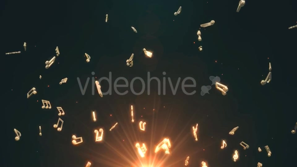 Musical Notes Flying Videohive 19754156 Motion Graphics Image 5
