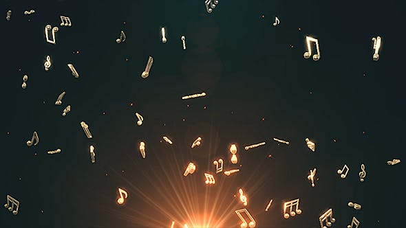 Musical Notes Flying - Download 19754156 Videohive