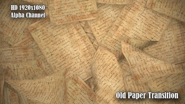 Old Paper Transition - Videohive Download 19705878