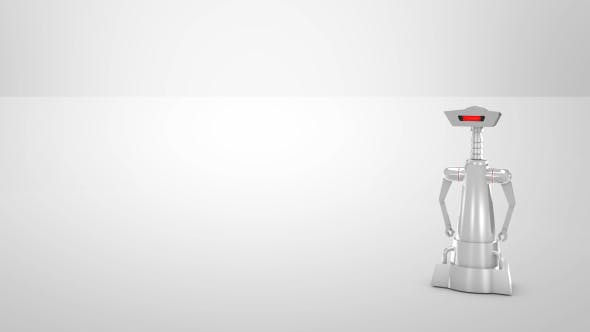 Robot and Bright Background - 19795019 Videohive Download