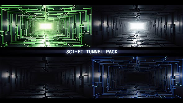 Sci Fi Tunnel Pack - 19813013 Videohive Download