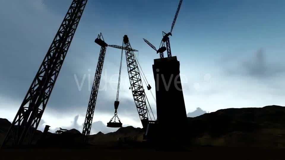 Silhouette Building Construction Zone Videohive 19729764 Motion Graphics Image 1