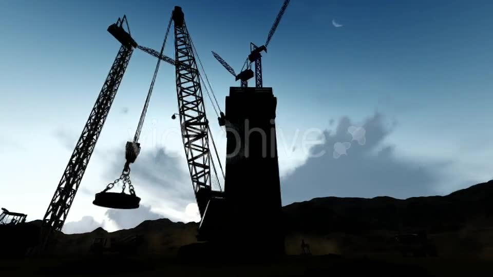 Silhouette Building Construction Zone Videohive 19729764 Motion Graphics Image 2