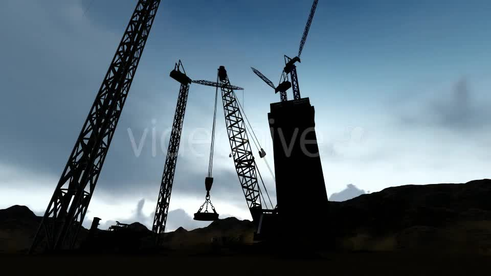 Silhouette Construction Videohive 19729750 Motion Graphics Image 1