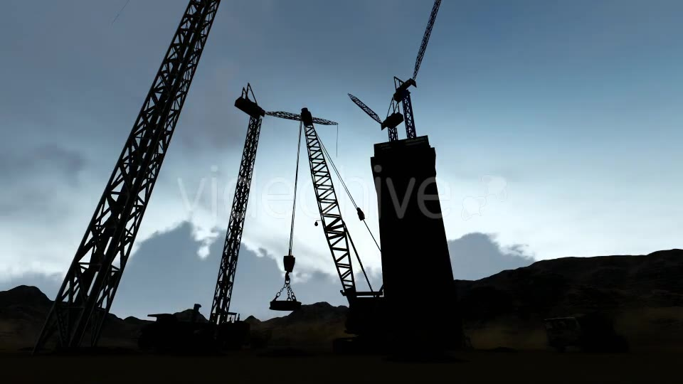 Silhouette Construction Videohive 19729750 Motion Graphics Image 3