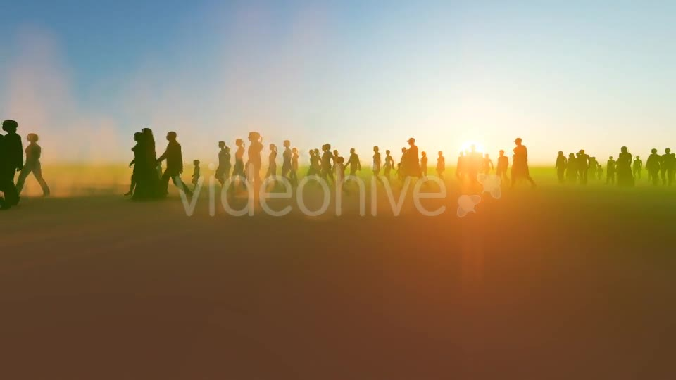 Silhouette people walking in the desert Videohive 19788646 Motion Graphics Image 2