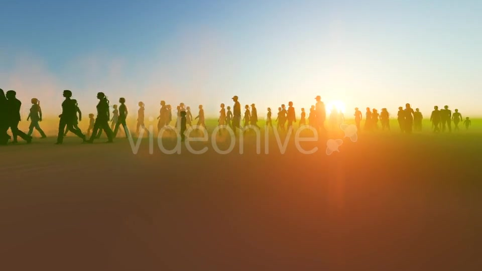 Silhouette people walking in the desert Videohive 19788646 Motion Graphics Image 3