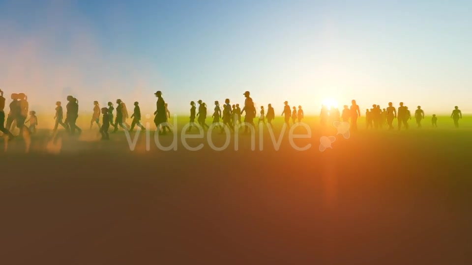 Silhouette people walking in the desert Videohive 19788646 Motion Graphics Image 4