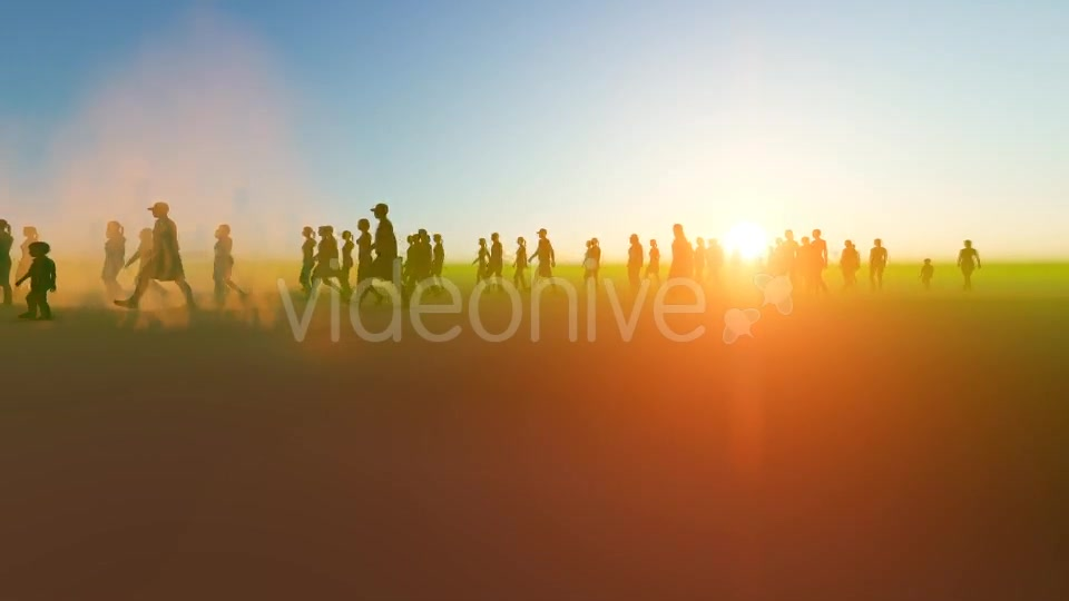 Silhouette people walking in the desert Videohive 19788646 Motion Graphics Image 5
