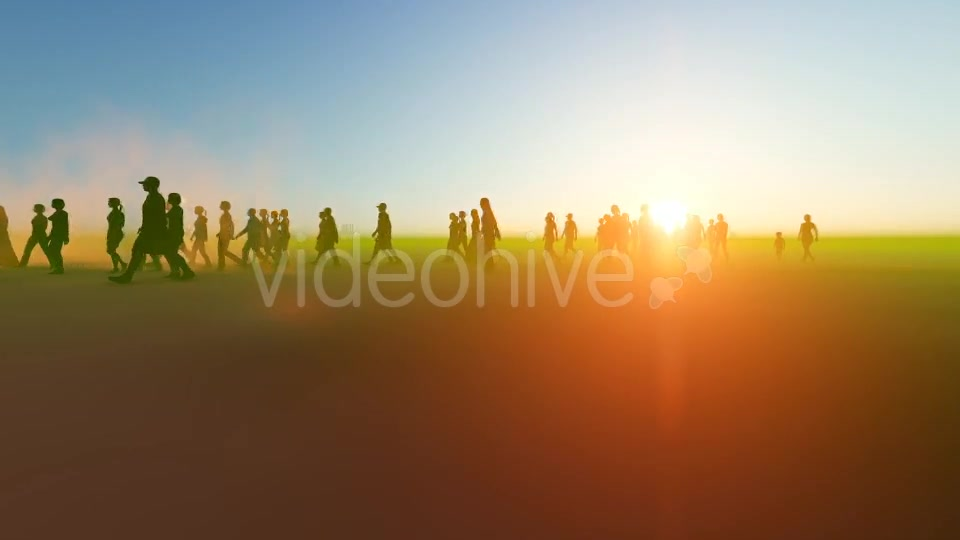 Silhouette people walking in the desert Videohive 19788646 Motion Graphics Image 6