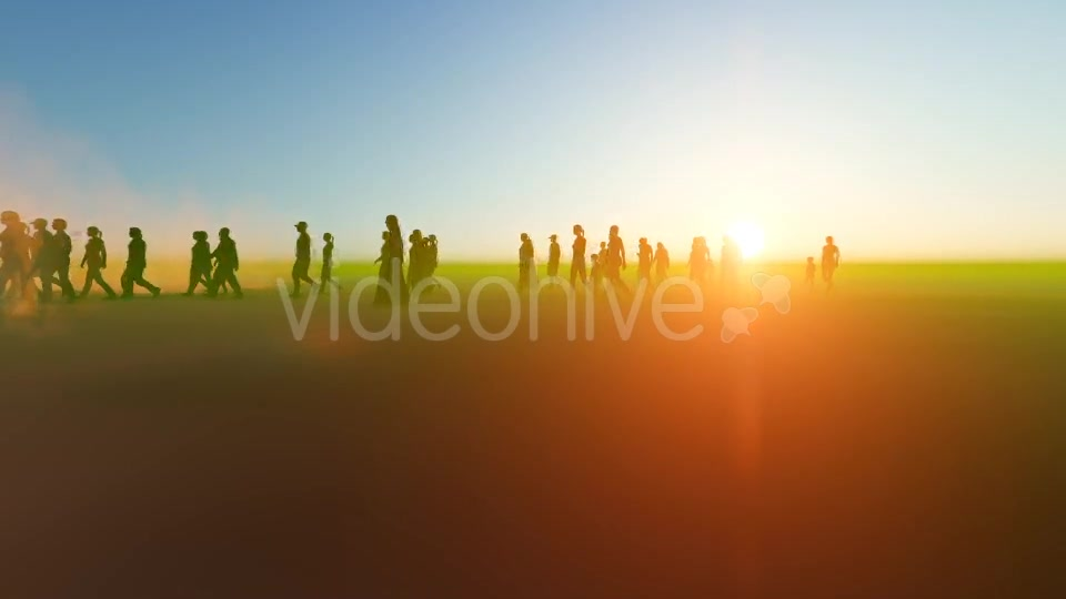 Silhouette people walking in the desert Videohive 19788646 Motion Graphics Image 7
