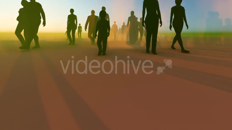 Silhouette People Walking Videohive 19788649 Motion Graphics Image 2
