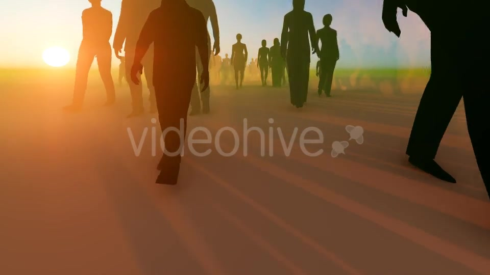 Silhouette People Walking Videohive 19788649 Motion Graphics Image 3