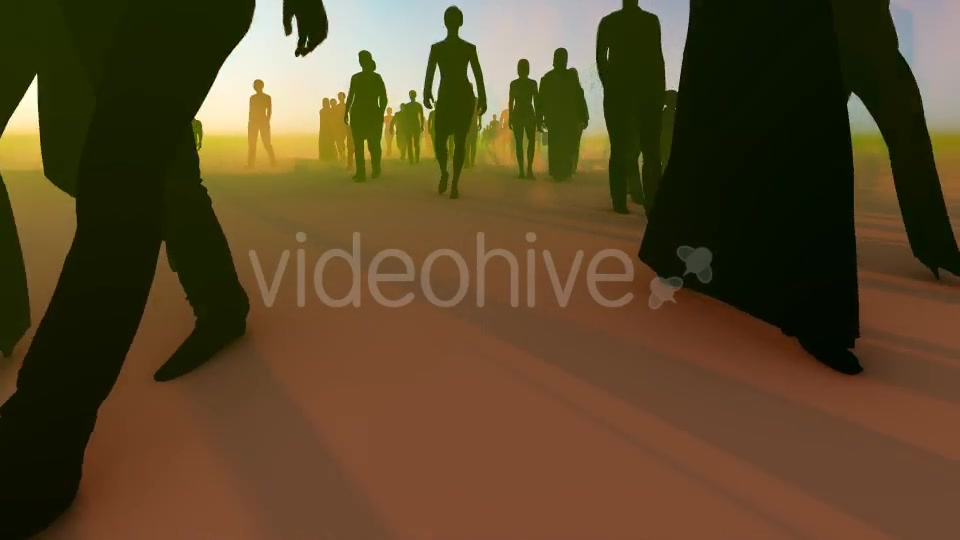 Silhouette People Walking Videohive 19788649 Motion Graphics Image 4