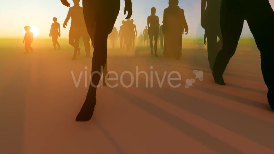 Silhouette People Walking Videohive 19788649 Motion Graphics Image 5