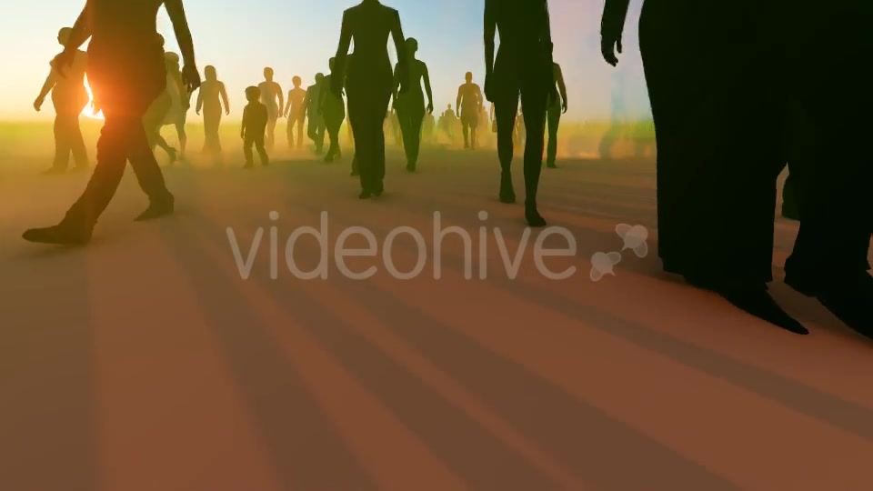 Silhouette People Walking Videohive 19788649 Motion Graphics Image 6