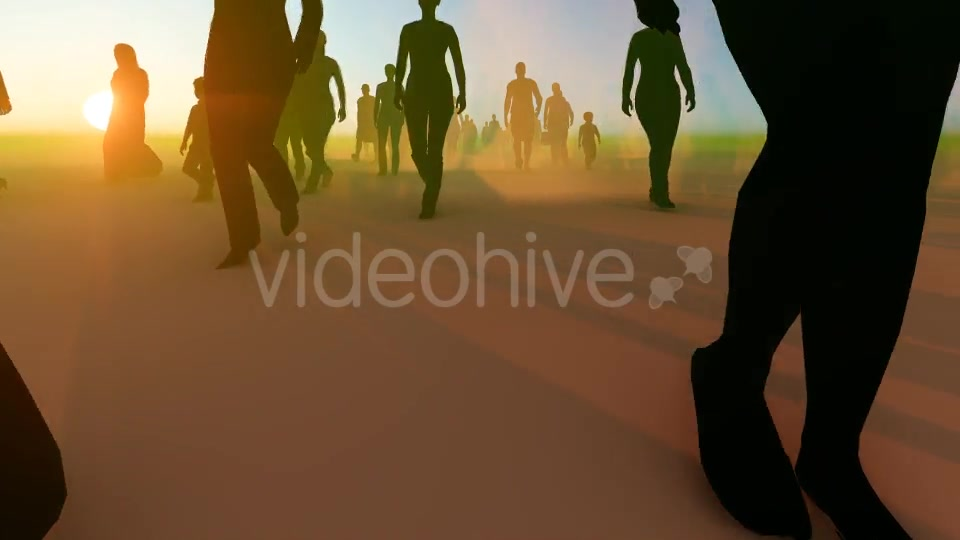 Silhouette People Walking Videohive 19788649 Motion Graphics Image 7